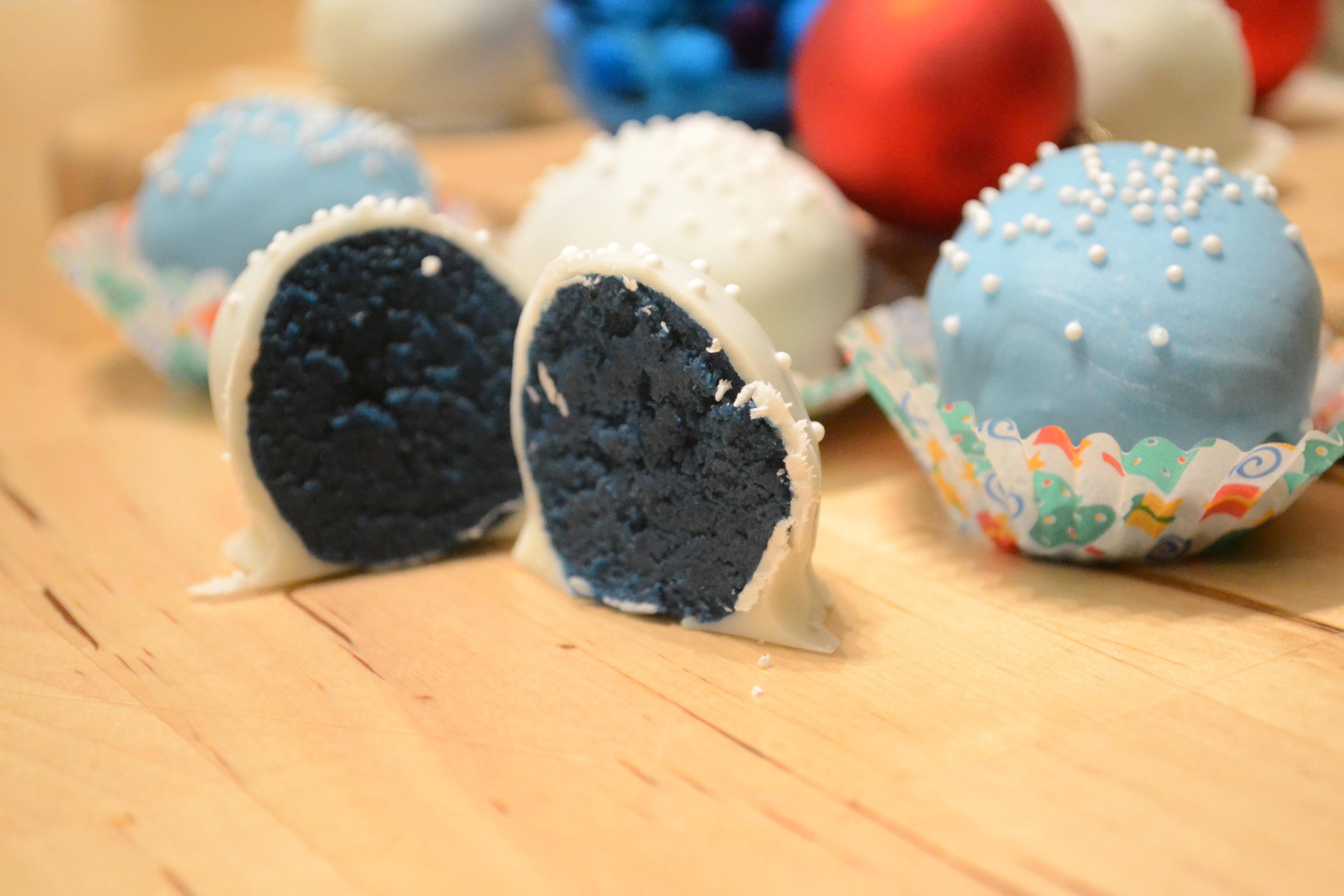 Blue Velvet Cake Truffles