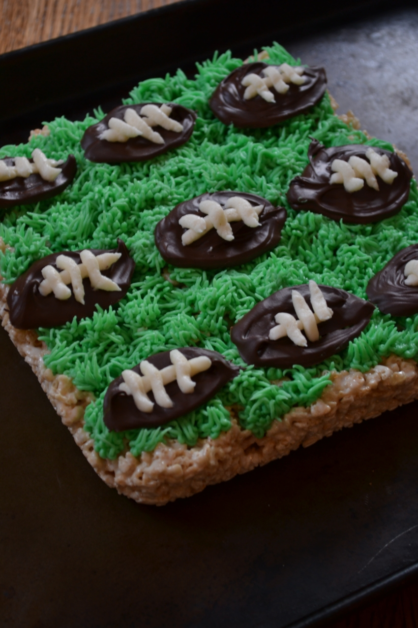 Football Krispie Treats by Emily Eats Sweet Treats